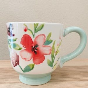 Threshold White and Baby Blue Floral Coffee Mug